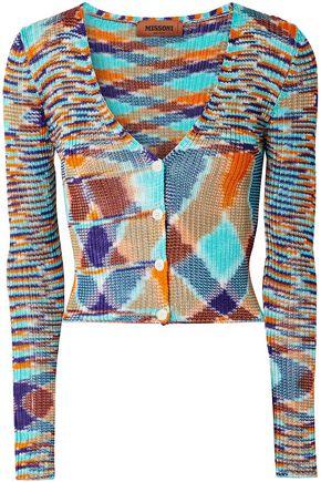 MISSONI Intarsia crochet-knit cardigan