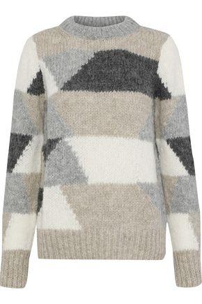 ANTIK BATIK Jeany color-block alpaca-blend sweater