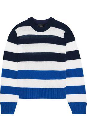 RAG & BONE Annika striped intarsia cashmere sweater