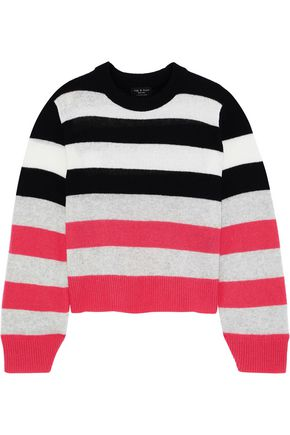RAG & BONE Annika striped intarsia cashmere sweater
