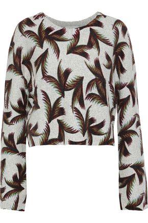 A.L.C. Tami cropped printed cashmere sweater
