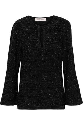 CAROLINA HERRERA Sequin-embellished metallic wool-blend sweater