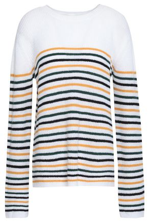 A.L.C. Meryl striped wool-blend sweater