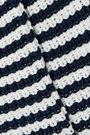 MANSUR GAVRIEL Striped ribbed cotton-blend sweater