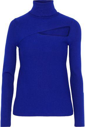 A.L.C. Camden cutout stretch-knit turtleneck sweater