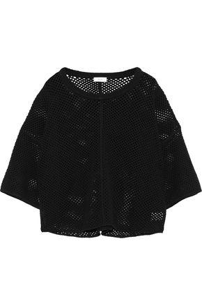 A.L.C. Cristino cropped open-knit top