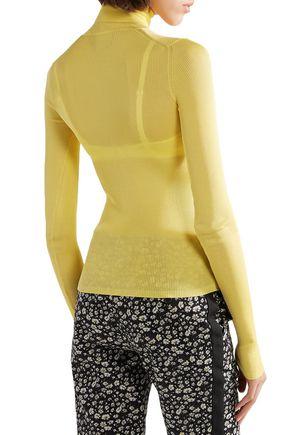 CALVIN KLEIN 205W39NYC Ribbed silk turtleneck sweater