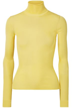 CALVIN KLEIN 205W39NYC Ribbed silk turtleneck sweater