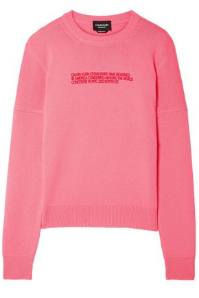 CALVIN KLEIN 205W39NYC Flocked cashmere sweater