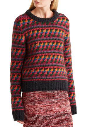 BURBERRY Wool-blend jacquard sweater