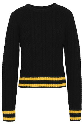 A.L.C. Alpha striped merino wool-blend sweater