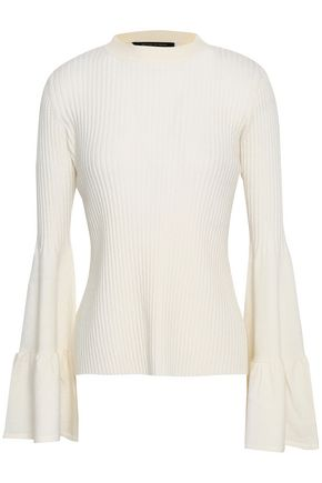 f111a9cc7427 MOTHER OF PEARL Corinne fluted ribbed-knit sweater