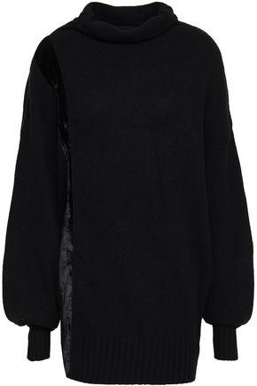 AMANDA WAKELEY Helene velvet-trimmed cashmere turtleneck sweater
