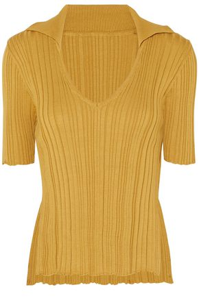 JACQUEMUS Ribbed-knit cotton top