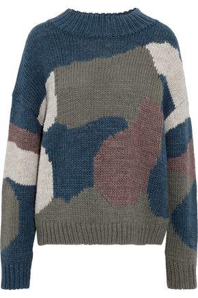 M.I.H JEANS Camo intarsia-knit sweater