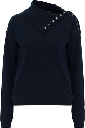 M.I.H JEANS Woodman snap-detailed cashmere sweater
