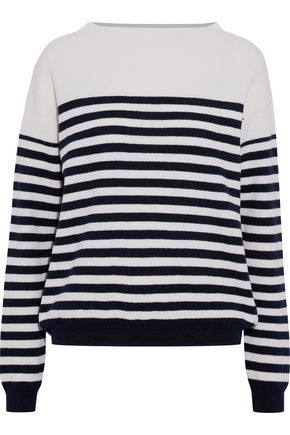 M.I.H JEANS Margot striped merino wool sweater