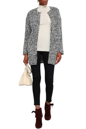 BA&SH Two-tone wool-blend cardigan