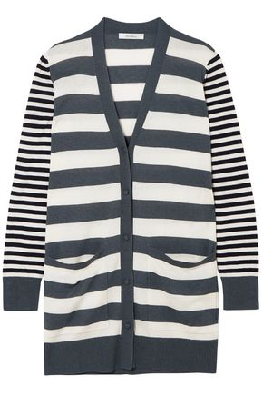 MAX MARA Etiopia striped silk and cashmere-blend cardigan