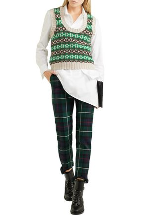 58b835e67dba BURBERRY Intarsia cashmere and wool-blend sweater