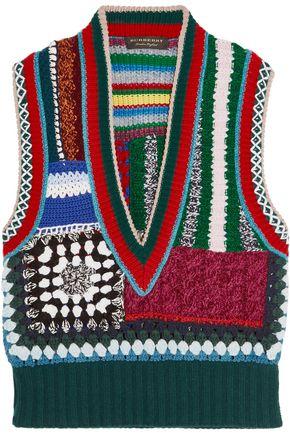 BURBERRY Jacquard-knit gilet