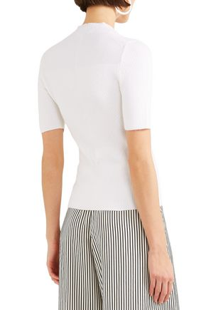 NARCISO RODRIGUEZ Ribbed cashmere-blend top