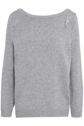 BA&SH Crystal-embellished wool and cashmere-blend sweater