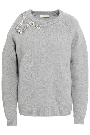 BA&SH Cutout embellished wool and cashmere-blend sweater