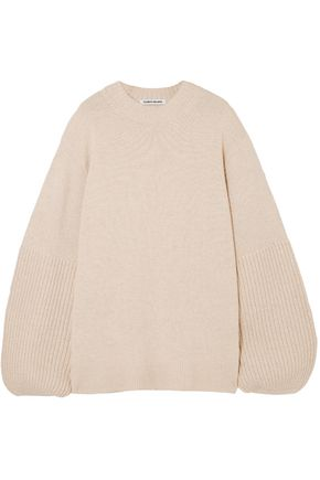 ELIZABETH AND JAMES Paneled knitted sweater