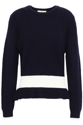 BA&SH Kerens striped ribbed-knit wool sweater