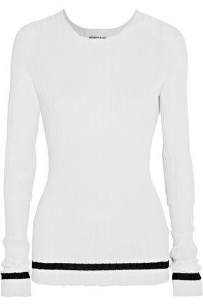 GEORGIA ALICE Striped ribbed-knit sweater