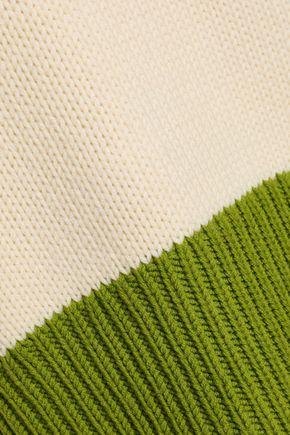 AMANDA WAKELEY Two-tone wool sweater