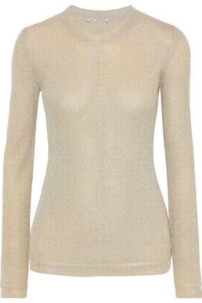 EMILIA WICKSTEAD Metallic ribbed-knit sweater