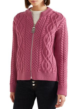 MARC JACOBS Cable-knit merino wool cardigan