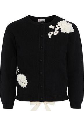 REDValentino Embellished cotton cardigan