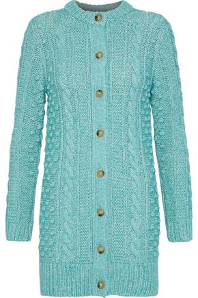 ALEXACHUNG Cable-knit cotton-blend cardigan