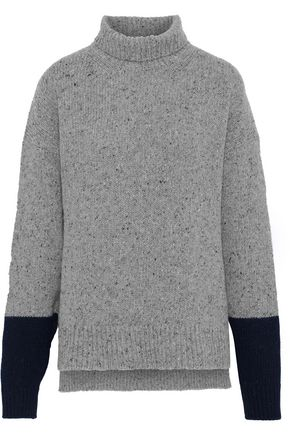 ALEXACHUNG Marled ribbed wool-blend turtleneck sweater