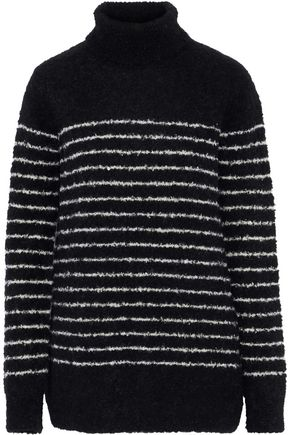 VEDA Striped alpaca-blend turtleneck sweater
