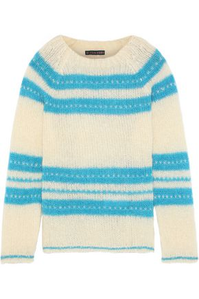 ALEXACHUNG Intarsia mohair-blend sweater