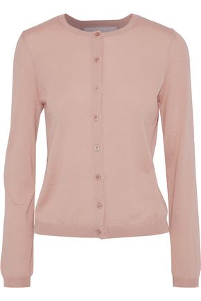 REDValentino Point d'esprit-trimmed cashmere and silk-blend cardigan