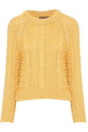 ALEXACHUNG Mouline cable-knit cotton-blend sweater