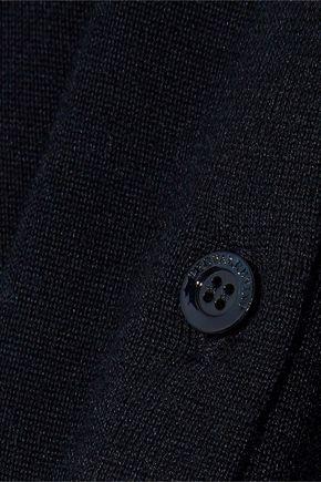 REDValentino Point d'espirit-trimmed cashmere and silk-blend cardigan