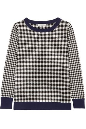 MAX MARA Gingham silk and wool-blend sweater