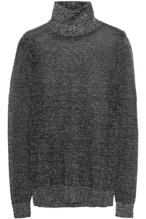 MICHAEL MICHAEL KORS Metallic knitted turtleneck sweater