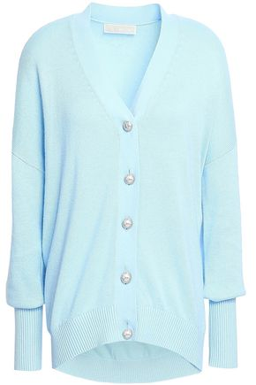 MICHAEL MICHAEL KORS Crystal-embellished cotton-blend cardigan