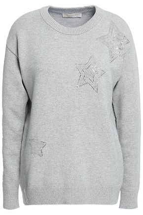 MICHAEL MICHAEL KORS Crystal-embellished French cotton-blend terry sweatshirt