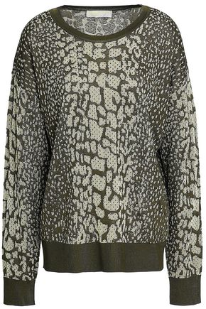 MICHAEL MICHAEL KORS Metallic jacquard-knit sweater