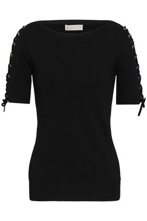 MICHAEL MICHAEL KORS Lace-up stretch-knit top