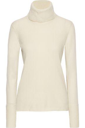 VERONICA BEARD Asa ribbed cashmere turtleneck sweater