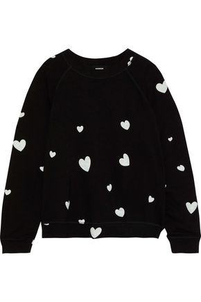 MONROW Printed French terry sweatshirt